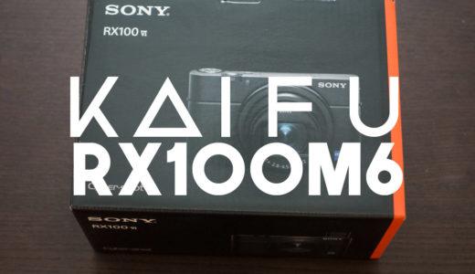 【カメラ】SONY RX100M6を開封した【シリーズ間の外観比較】