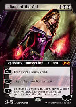 ヴェールのリリアナ/Liliana of the Veilのボックストッパー拡張アート