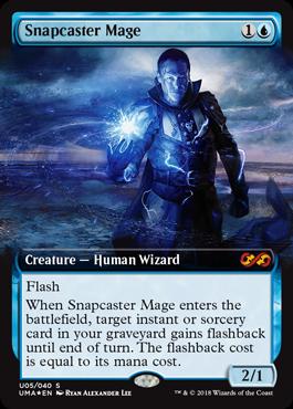 瞬唱の魔道士/Snapcaster Mageのボックストッパー拡張アート