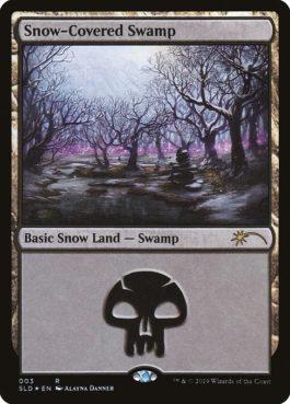 《冠雪の沼/Snow-Covered Swamp》[Secret Lair]