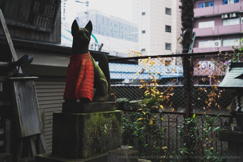 α7SとBatis 2/40 CFの作例@秋葉原柳森神社